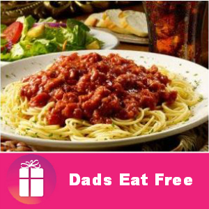 Dads Eat Free at Spaghetti Warehouse