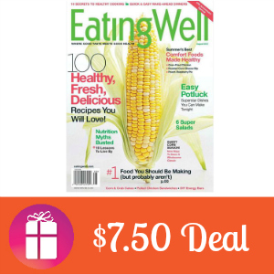 Deal $7.50 for Eating Well Magazine