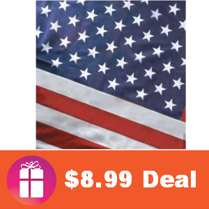$8.99 2-Pack 3'x5' American Flag (was $29.99)