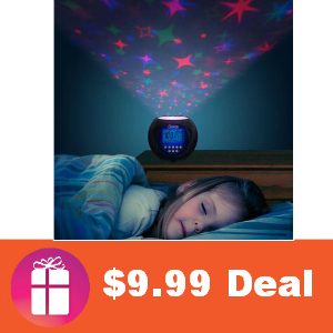 $9.99 Stars Projector and Clock with Lullabies