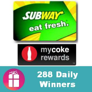 Sweeps Subway Gift Card IWG