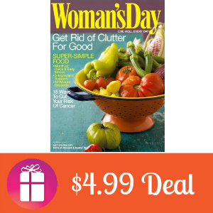 Deal $4.99 for Woman's Day Magazine