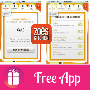 Free iTunes & Android App: Zoes Kitchen