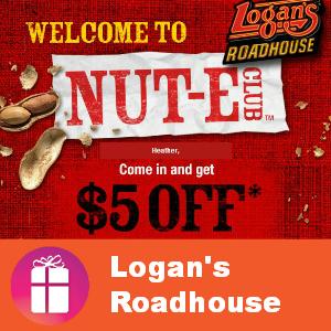 Coupon $5 off $20 at Logan's Roadhouse