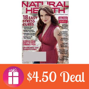 Deal $4.50 for Natural Health Magazine