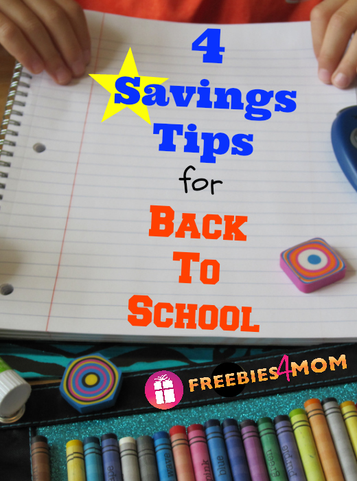 4 Savings Tips for Back To School