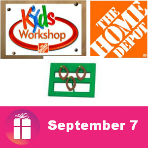 Free Kids Workshop at The Home Depot Sept. 7