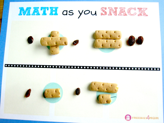 Math as you Snack Free Printable #LunchablesJR #shop (free printable)