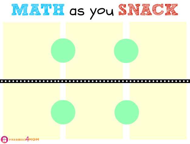 Math as you Snack Free Printable #LunchablesJR #shop