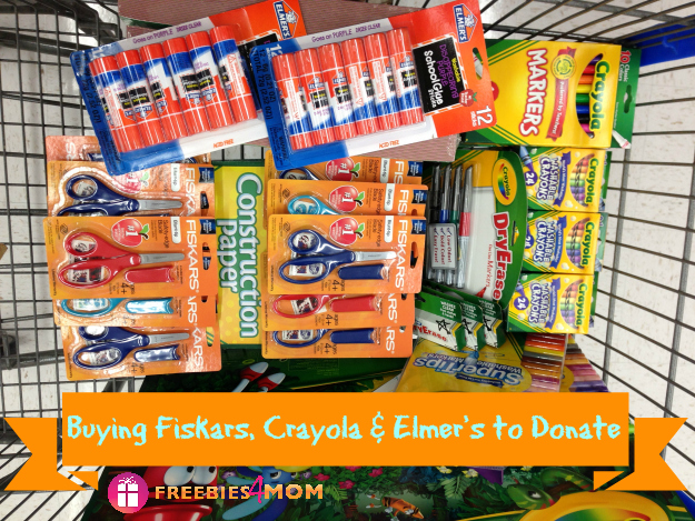 Buying Fiskars, Crayola & Elmer's to Donate #Fiskars4Kids #cfk #cbias #shop