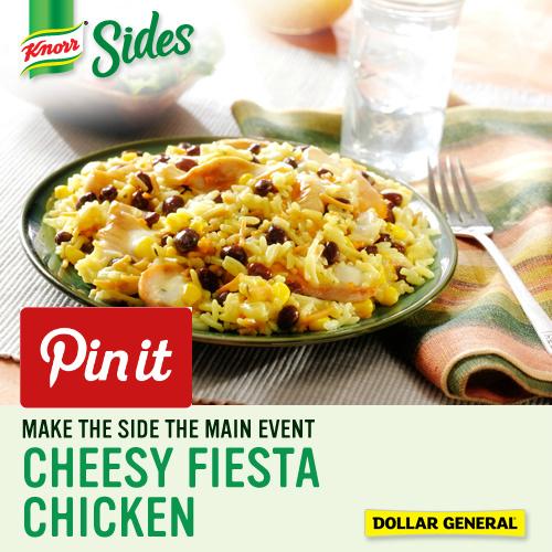 Cheesy Fiesta Chicken Recipe #KnorrSides #spon