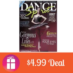 Deal $4.99 for Dance Spirit Magazine