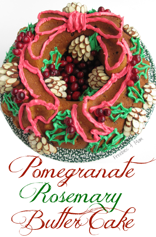 Pomegranate Rosemary Butter Cake Holiday Baking