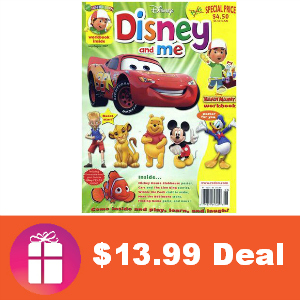 Deal $13.99 for Disney and Me Magazine