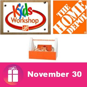 Free Kids Workshop at The Home Depot Nov. 30