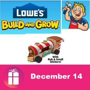 Free Train Engine Dec. 14 at Lowe's Kids Clinic