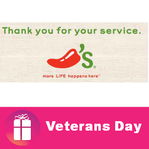 Free Entree for Military at Chili's Nov. 11