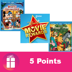 Free Disney Movie Rewards 5 pts Dec. 2