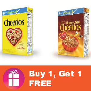 Cheerios Buy 1, Get 1 FREE