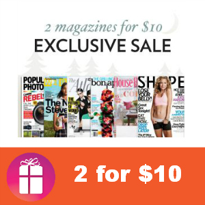 Magazine Monday Sale: 2 for $10
