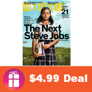 Deal $4.99 for Wired Magazine