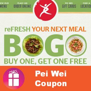 Pei Wei Entree Buy 1, Get 1 FREE