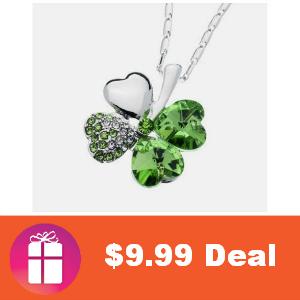 $9.99 Swarovski 4-Leaf Clover Necklace