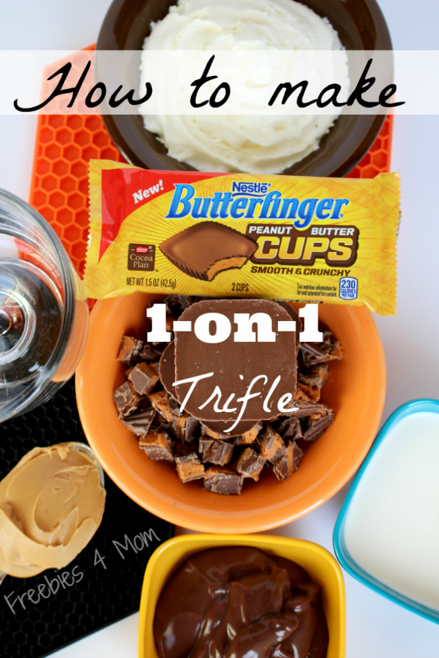 How to make Butterfinger Cups 1-on-1 Trifle Dessert #NewFavorites  #shop