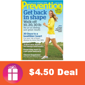 Deal $4.50 Prevention Magazine