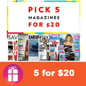 Deal 5 Magazines for $20