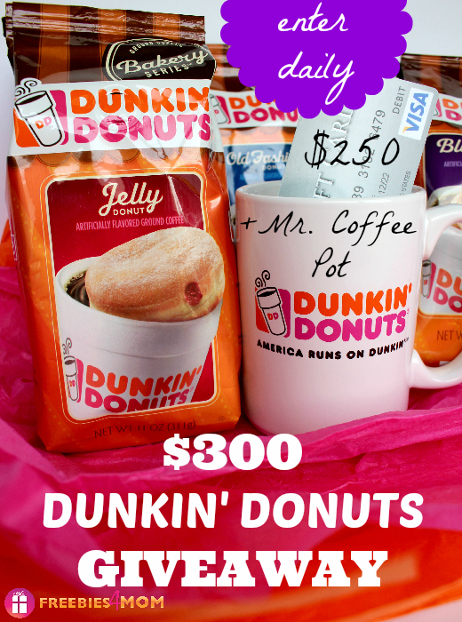 $300 Dunkin' Donuts Bakery Series Coffee Giveaway