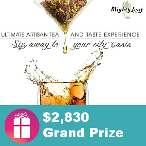 Enter the Mighty Leaf Tea and Taste Giveaway