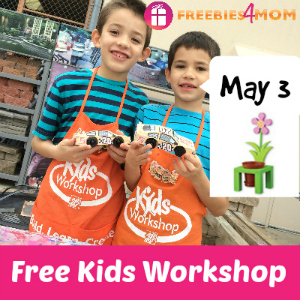 Free Kids Workshop May 3