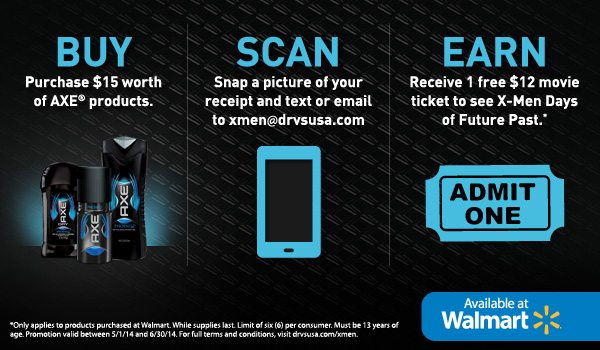 Free Movie Ticket Offer from AXE®
