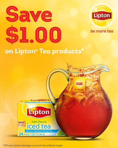 Save $1.00 on Lipton Tea Coupon
