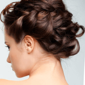 Suave's Braided Updo