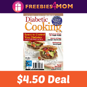 Magazine Deal Diabetic Cooking $4.50