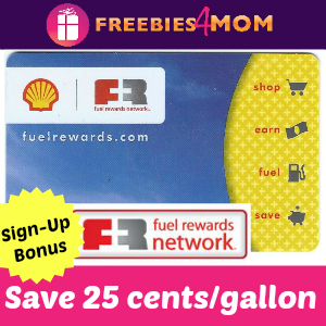Save 25 cents per gallon on Gas at Shell