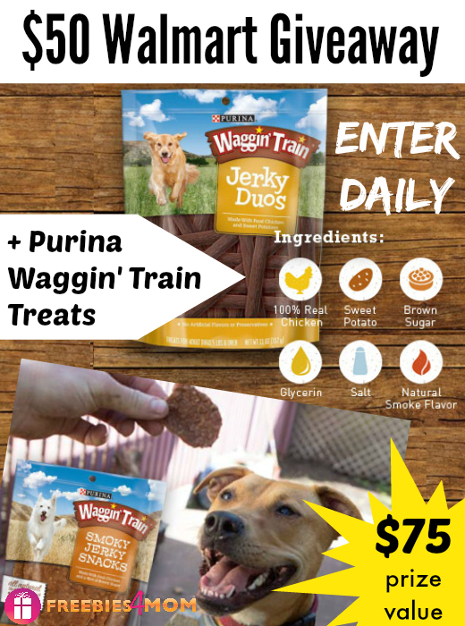 $50 Walmart Gift Card & Purina Waggin' Train Treats Giveaway