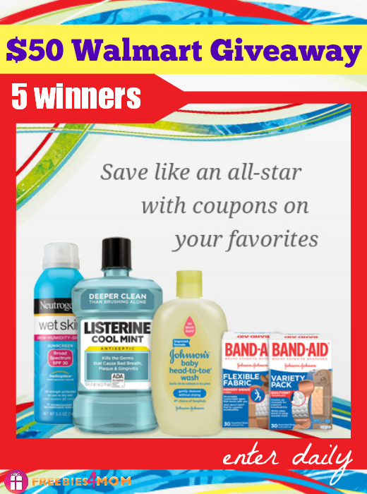 Johnson & Johnson Healthy Essentials - $50 Walmart Gift Card Giveaway