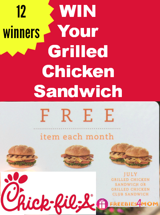 Chick-Fil-A Grilled Chicken Sandwich *FLASH* Giveaway (ends 2pm CT)