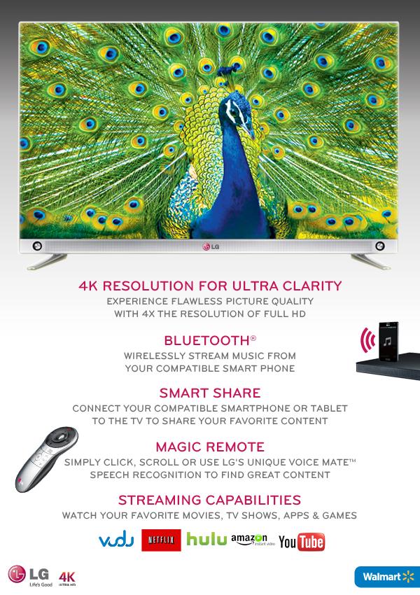 LG 4K TV at Walmart