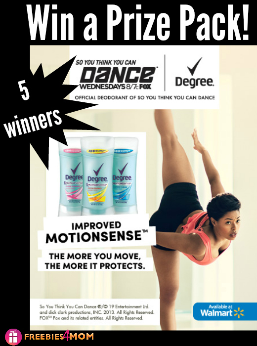 Degree® Women with MOTIONSENSE™ Giveaway