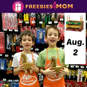 Free Kids Workshop August 2 at Home Depot