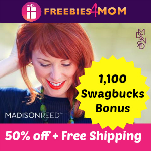 50% off at Madison Reed (plus 1,100 Swagbucks Bonus)