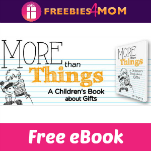 Free Children's eBook: More Than Things