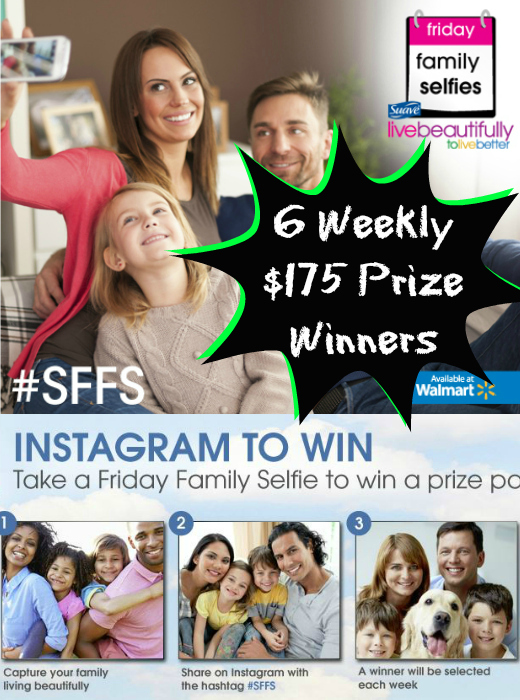 Take a Family Selfie, Win a $175 Prize from Suave®
