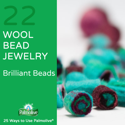 Palmolive Wool Bead Jewelry