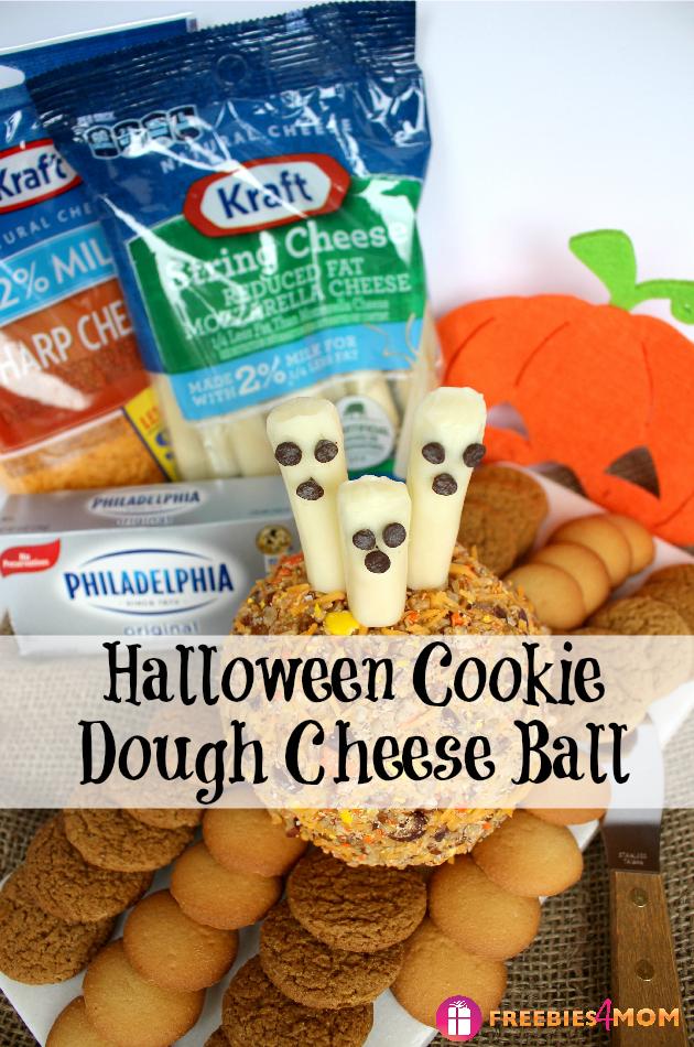 Halloween Cookie Dough Cheese Ball Recipe