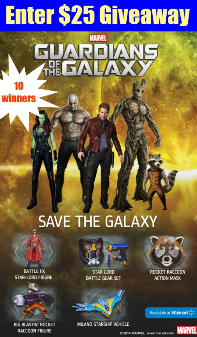 $25 Walmart Gift Card Giveaway ~ Guardians of the Galaxy